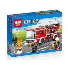 Конструктор Lepin 02054 «Пожарный автомобиль с лестницей»