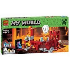 """Конструктор Bela 10393 """"Minecraft, Крепость Нижнего мира"""" (аналог Лего 21122)"""
