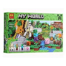 """Конструктор Bela 10468 """"Minecraft, Железный голем"""" (аналог Лего 21123)"""