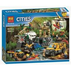 """Конструктор Bela 10712 """"База исследователей джунглей"""" (аналог Лего 60161)"""