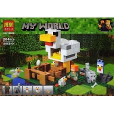 """Конструктор Bela 10809 """"Minecraft, Курятник"""" (аналог Лего 21140)"""