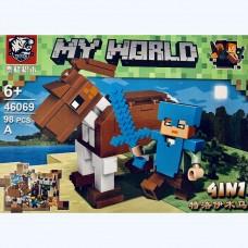 Мини-конструктор Крепость Minecraft 46069A