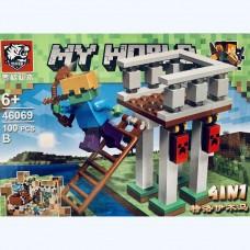 Мини-конструктор Крепость Minecraft 46069B