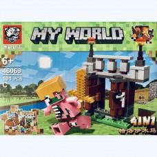 Мини-конструктор Крепость Minecraft 46069C