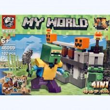 Мини-конструктор Крепость Minecraft 46069D