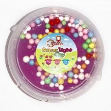 """Слайм с цветными шариками """"Super Light Clay"""" сиреневый"""