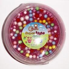 """Слайм с цветными шариками """"Super Light Clay"""" розовый"""
