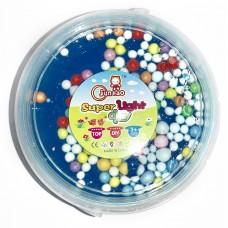 """Слайм с цветными шариками """"Super Light Clay"""" синий"""