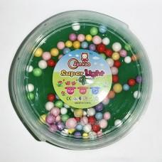 """Слайм с цветными шариками """"Super Light Clay"""" зеленый"""