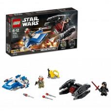 LEGO Star Wars 75196 Конструктор Лего Звездные Войны Истребитель A против бесшумного истребителя