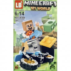 """Мини-фигурка Minecraft LB369A """"Герои на мотоциклах"""""""