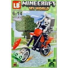 "Мини-фигурка Minecraft LB369B ""Герои на мотоциклах"""