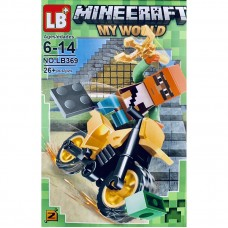 "Мини-фигурка Minecraft LB369C ""Герои на мотоциклах"""