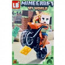 "Мини-фигурка Minecraft LB369D ""Герои на мотоциклах"""