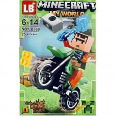 """Мини-фигурка Minecraft LB369E """"Герои на мотоциклах"""""""