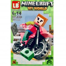 "Мини-фигурка Minecraft LB369F ""Герои на мотоциклах"""