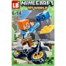 "Мини-фигурка Minecraft LB369G ""Герои на мотоциклах"""